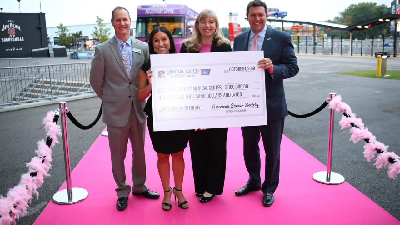 American Cancer Society and Buffalo Bills through the NFL Crucial Catch  Program award  100 f12aa7788