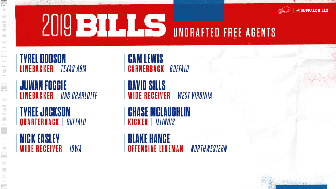 buy popular 63c45 0de03 Get a closer look at the Bills eight undrafted free agent ...