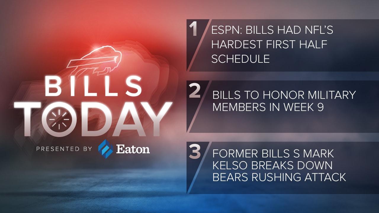 Bills Today: ESPN: Bills had NFL's hardest first half schedule