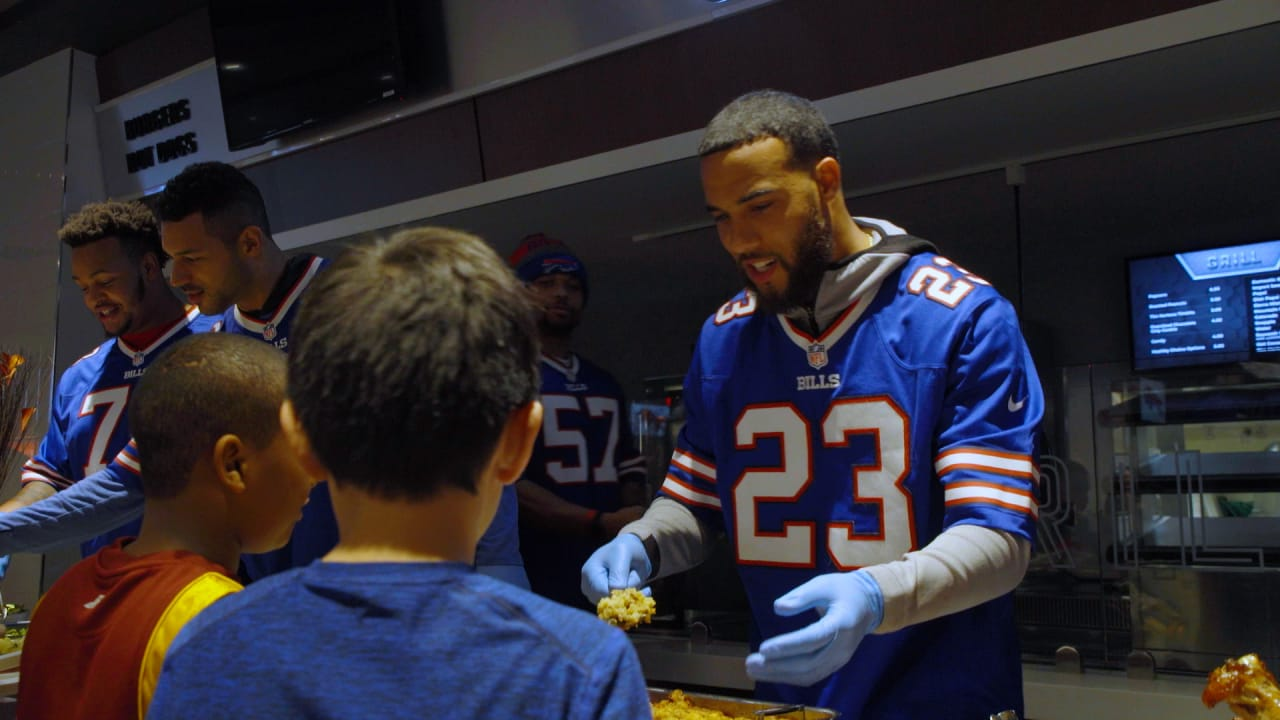 best authentic fa29a d8a24 Micah Hyde Hosts Thanksgiving Dinner for Local Youth