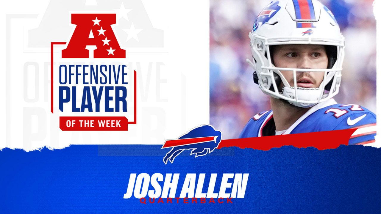 Josh Allen named AFC Offensive Player of the Week for the seventh timeNewsMaddy Glab
