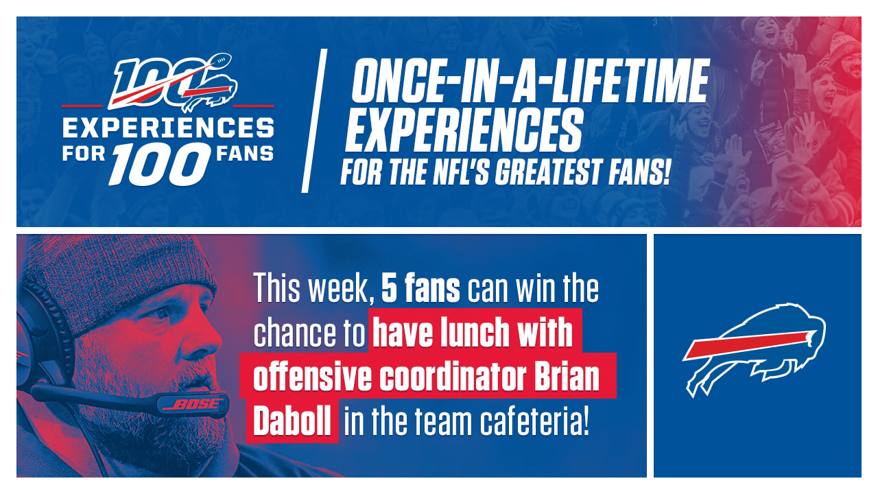 """Bills celebrate NFL100 with """"100 Experiences for 100 Fans"""