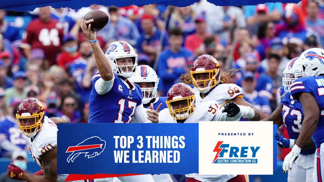 Top 3 things we learned from Bills at Washington | Week 3NewsJourdon LaBarber