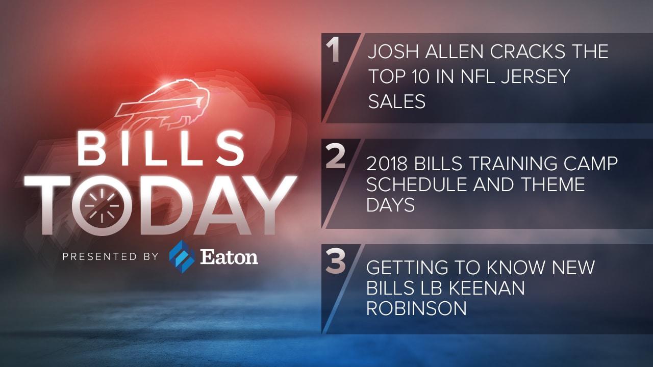 online retailer 2d32b 470e5 Bills Today: Josh Allen cracks NFL's top 10 in jersey sales