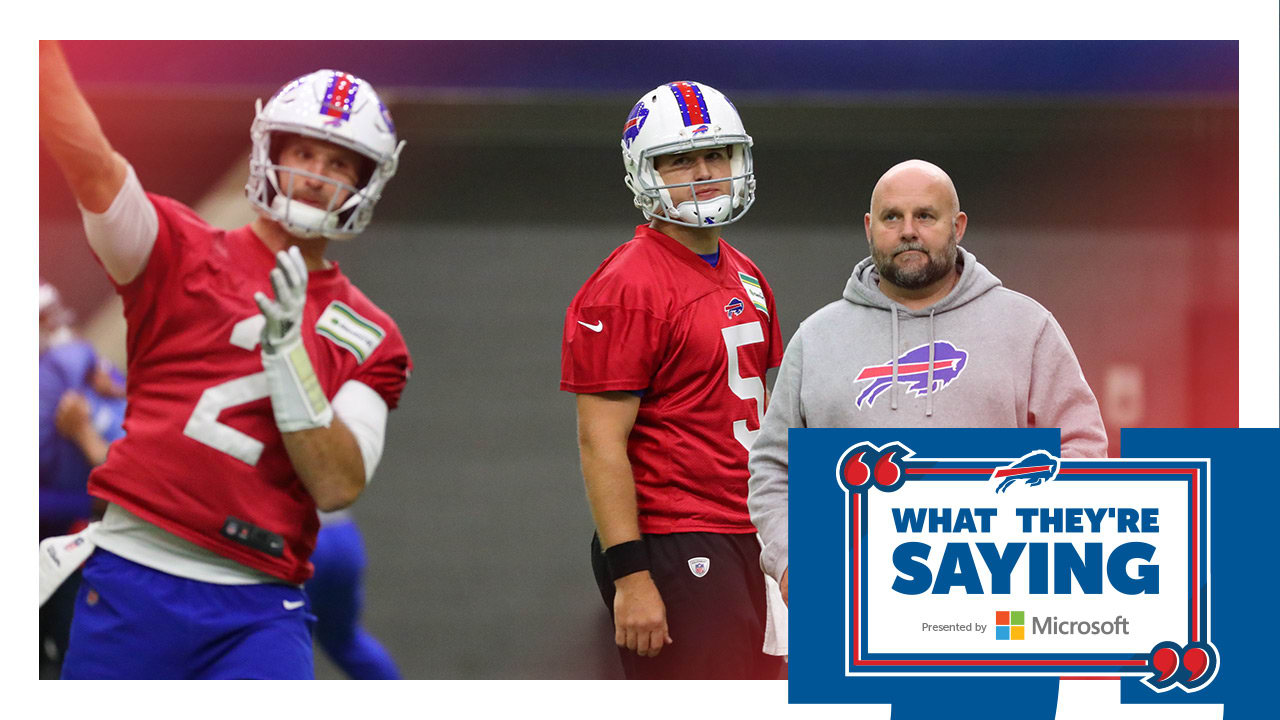 What they're saying: Bills reflect on the current QB situation and