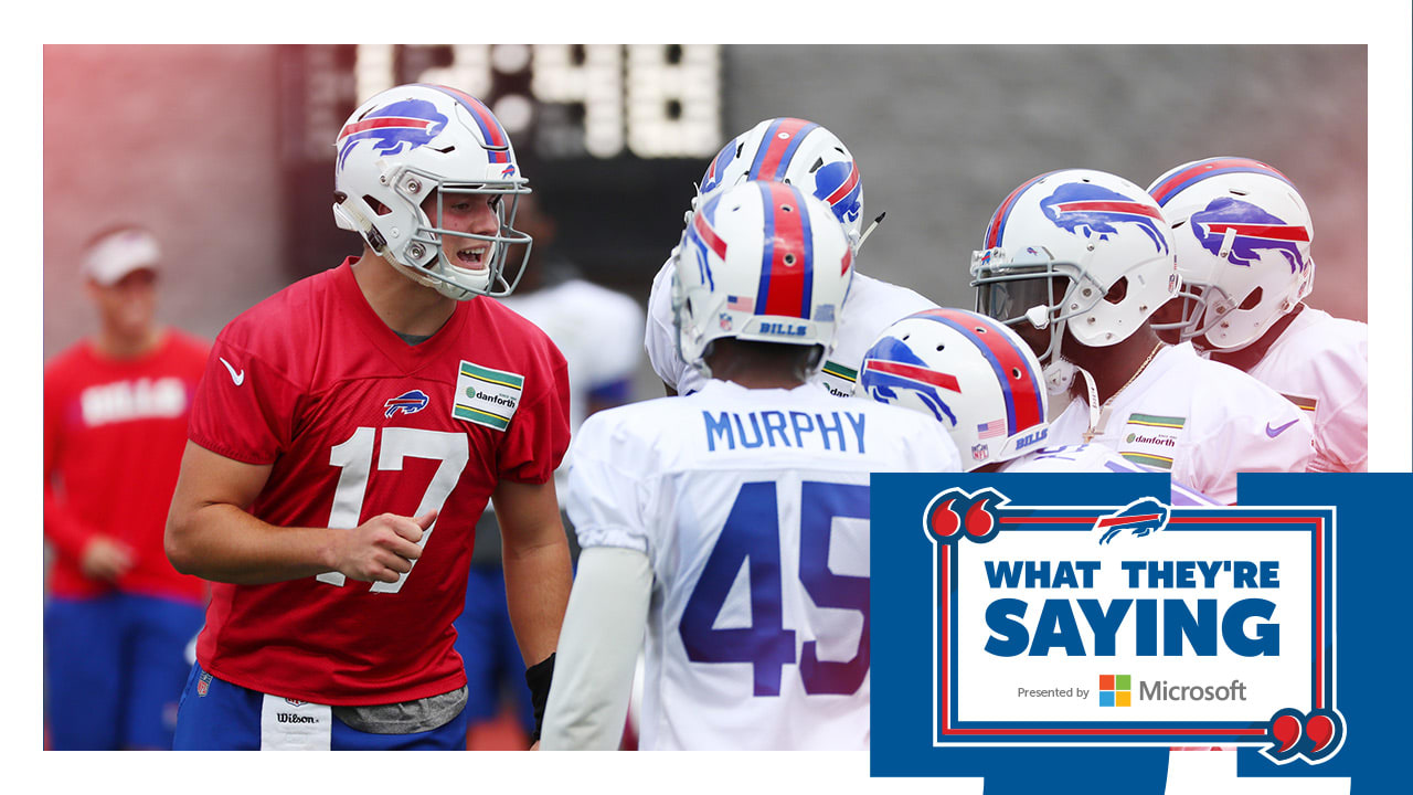 promo code 69dd0 92ab2 What they're saying: Teammates back Josh Allen as Bills ...