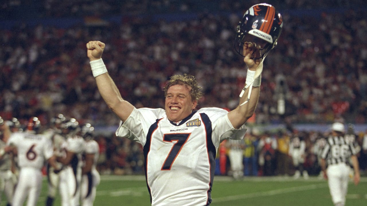 John Elway celebrates Super Bowl win