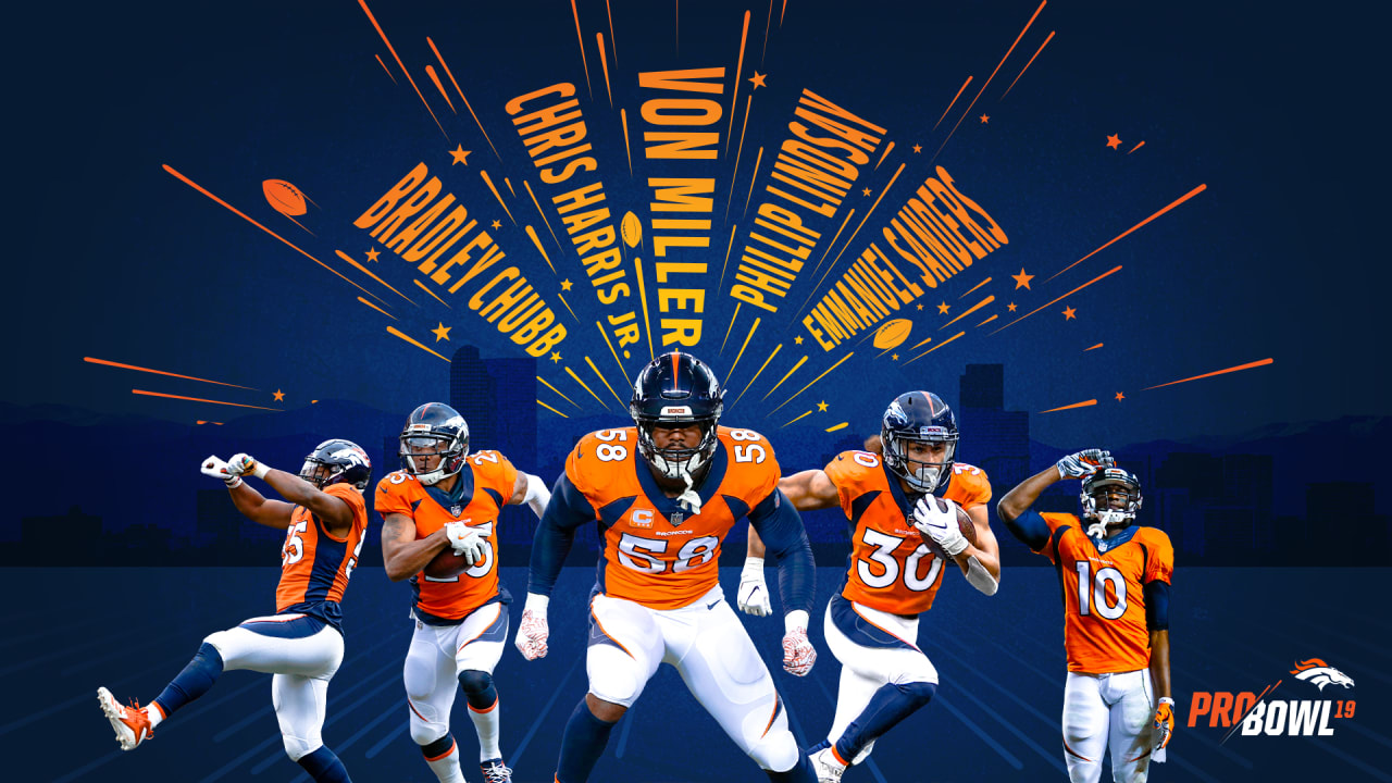 quality design 71536 d83dc Von Miller, Phillip Lindsay selected to 2019 Pro Bowl; Three ...