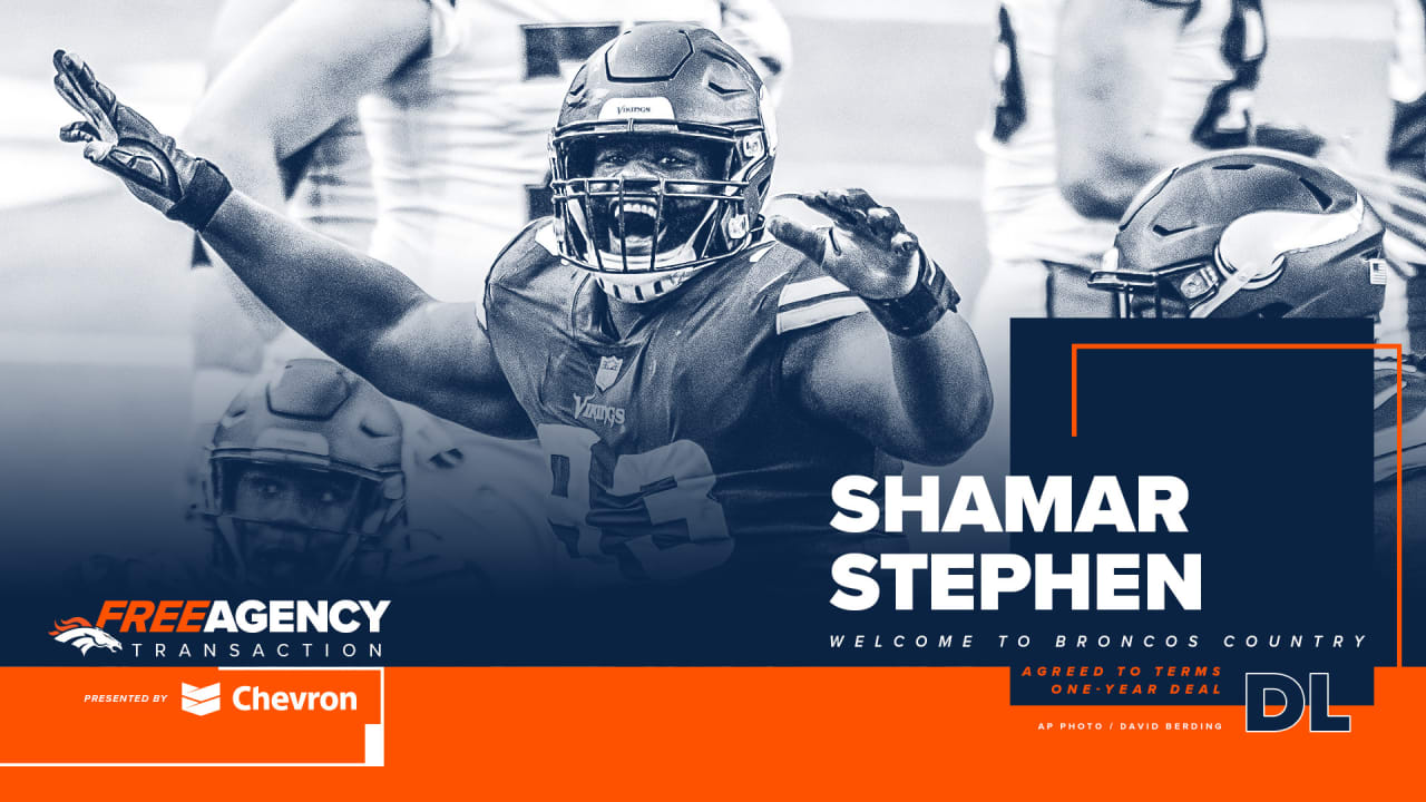 Broncos agree to terms with DL Shamar Stephen