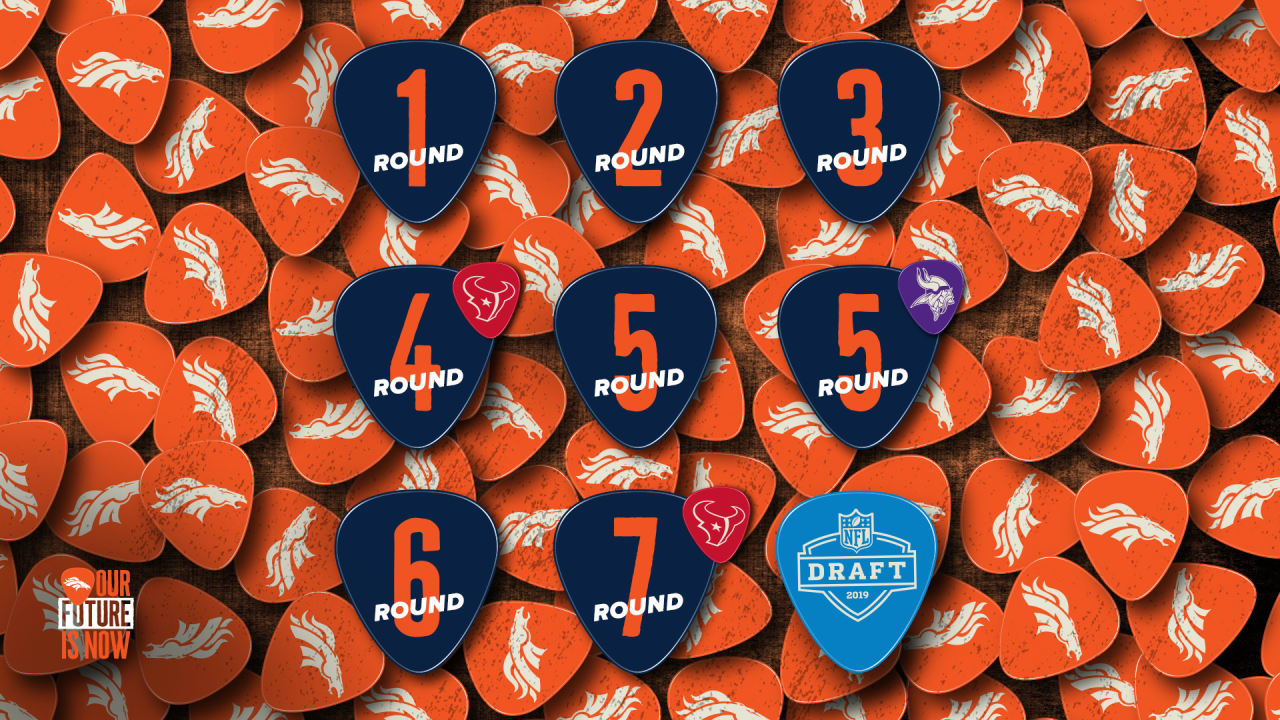 Broncos' picks for 2019 NFL Draft finalized