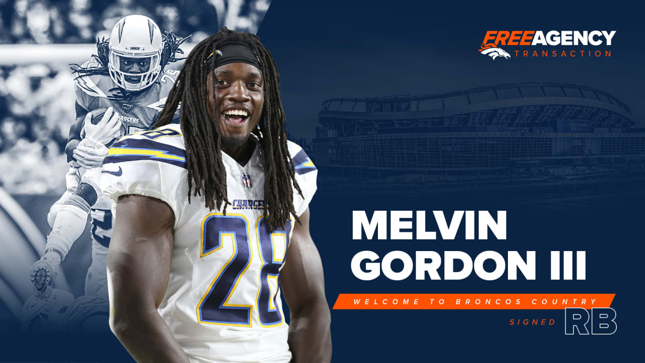 Broncos Officially Sign Rb Melvin Gordon To Two Year Deal