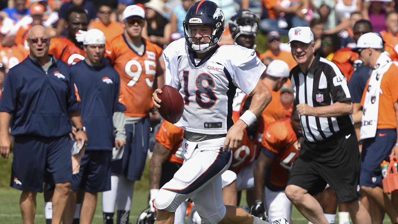ea4cbeb26 Broncos Training Camp Quick Hits  Day 9 -- Manning on the move
