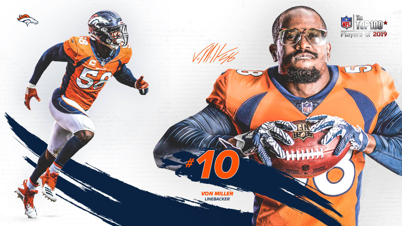 Von Miller voted No. 10 on NFL Top 100 list
