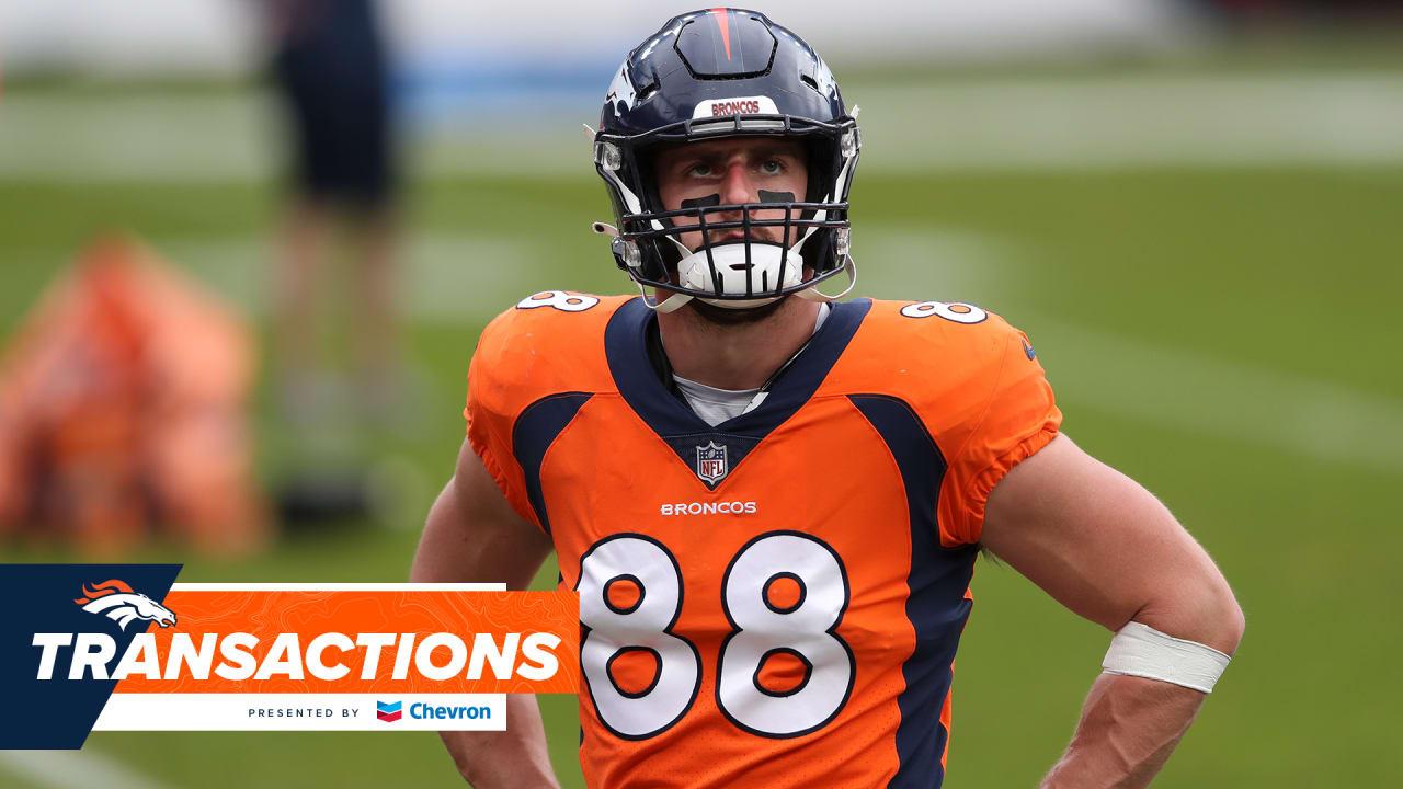 Broncos release TE Nick Vannett