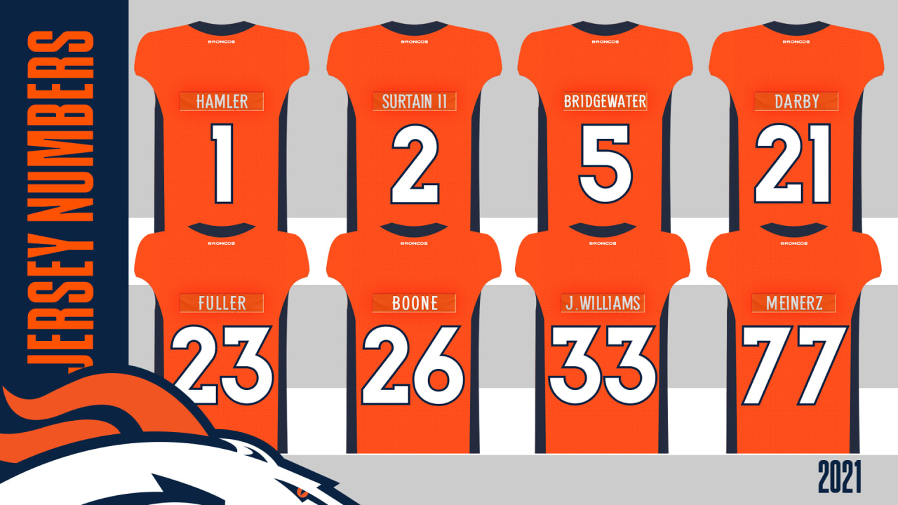 Broncos announce jersey numbers for offseason additions, 2021 draft class