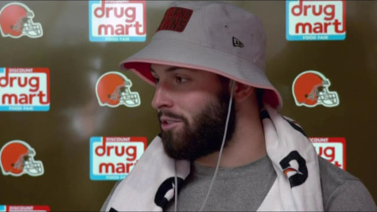 9136094d4b4 Cleveland Browns QB Baker Mayfield on signing contract  It was a  priority   to be at training camp