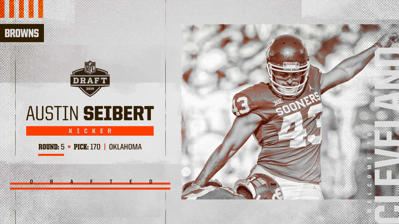 Cleveland Browns select Oklahoma K Austin Seibert with No