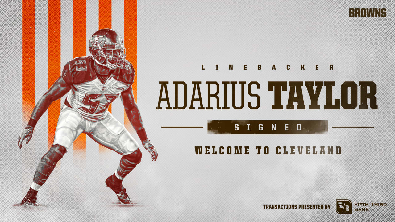 super cute 5fd8d f31ab Browns add depth in linebacker Adarius Taylor