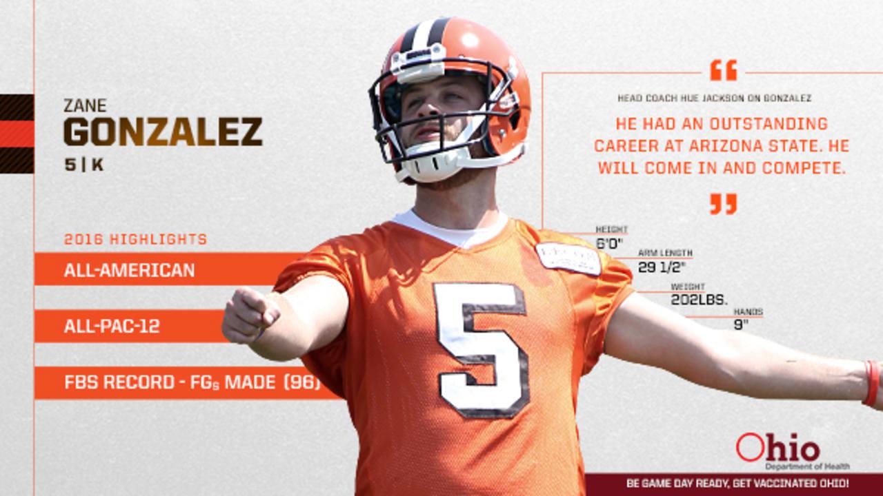sports shoes a4738 cfbc1 Rookie Reflection: Zane Gonzalez embracing Browns kicker ...