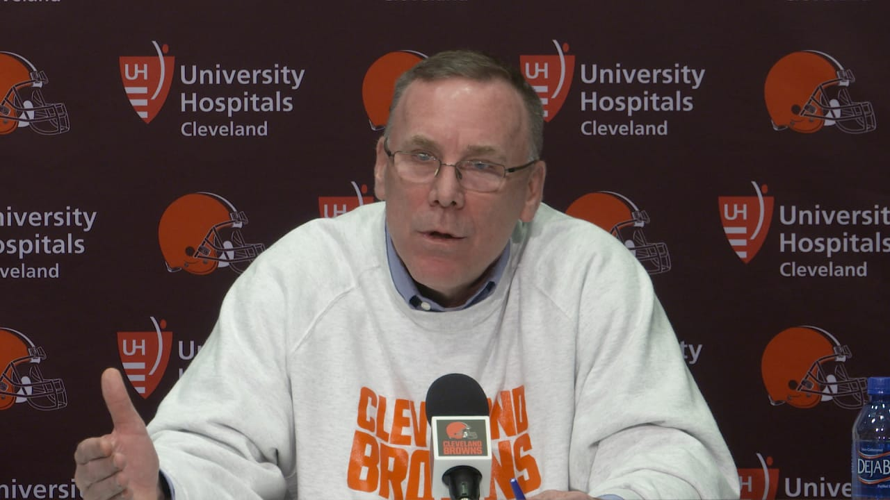 Browns GM John Dorsey press conference - 12/31