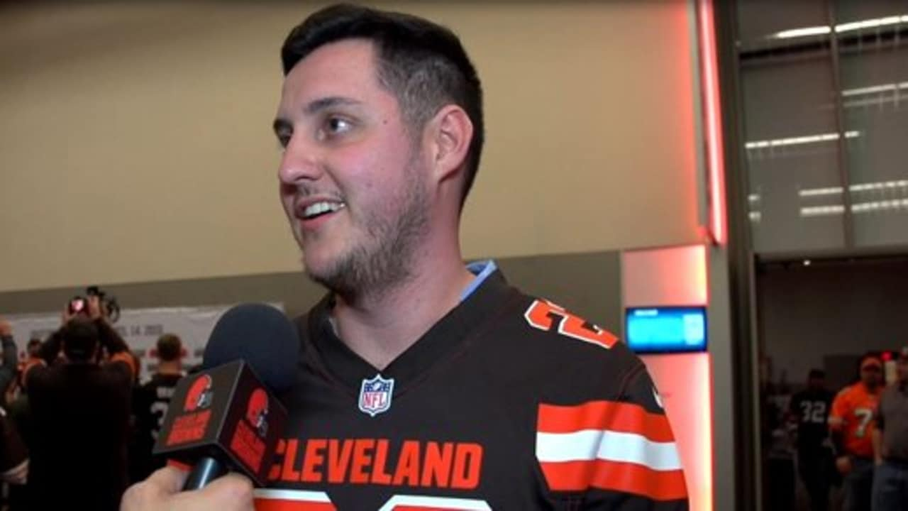 Inside  Browns fans react to Uniform Reveal Event b72ee7f29