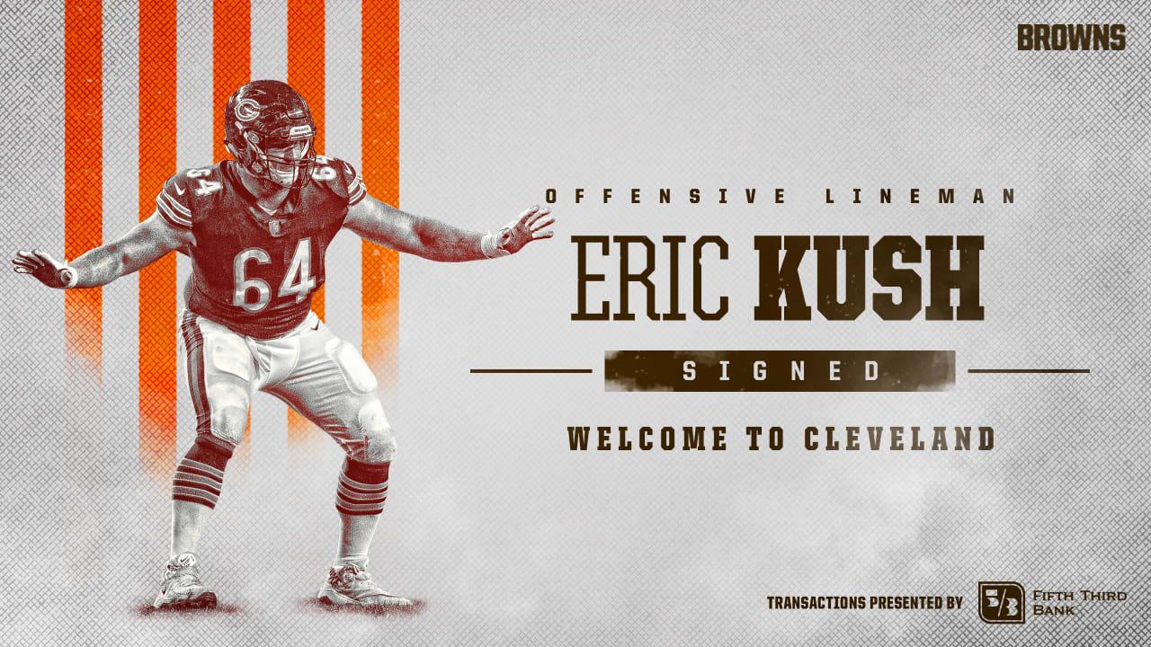 super popular 217b6 2a377 Browns sign veteran offensive lineman Eric Kush