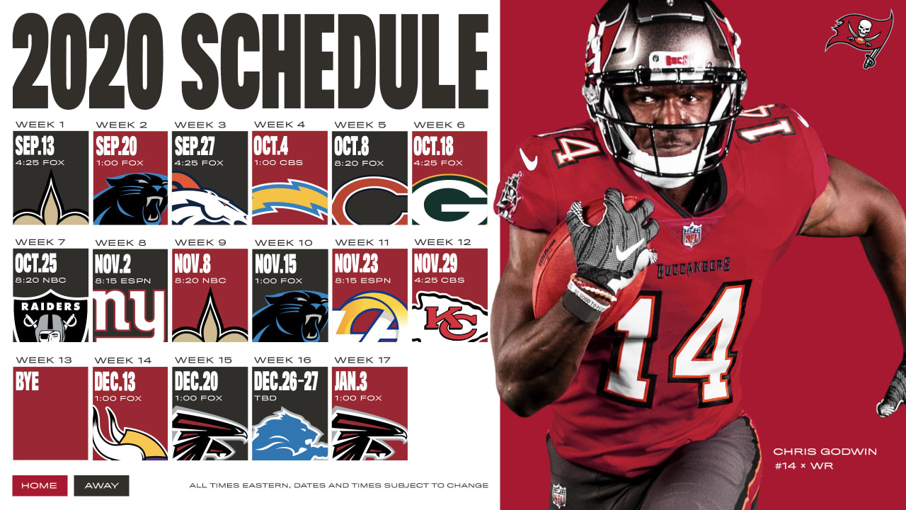 2020 Tampa Bay Buccaneers Schedule Complete Schedule Tickets And Match Up Information For 2020 Nfl Season