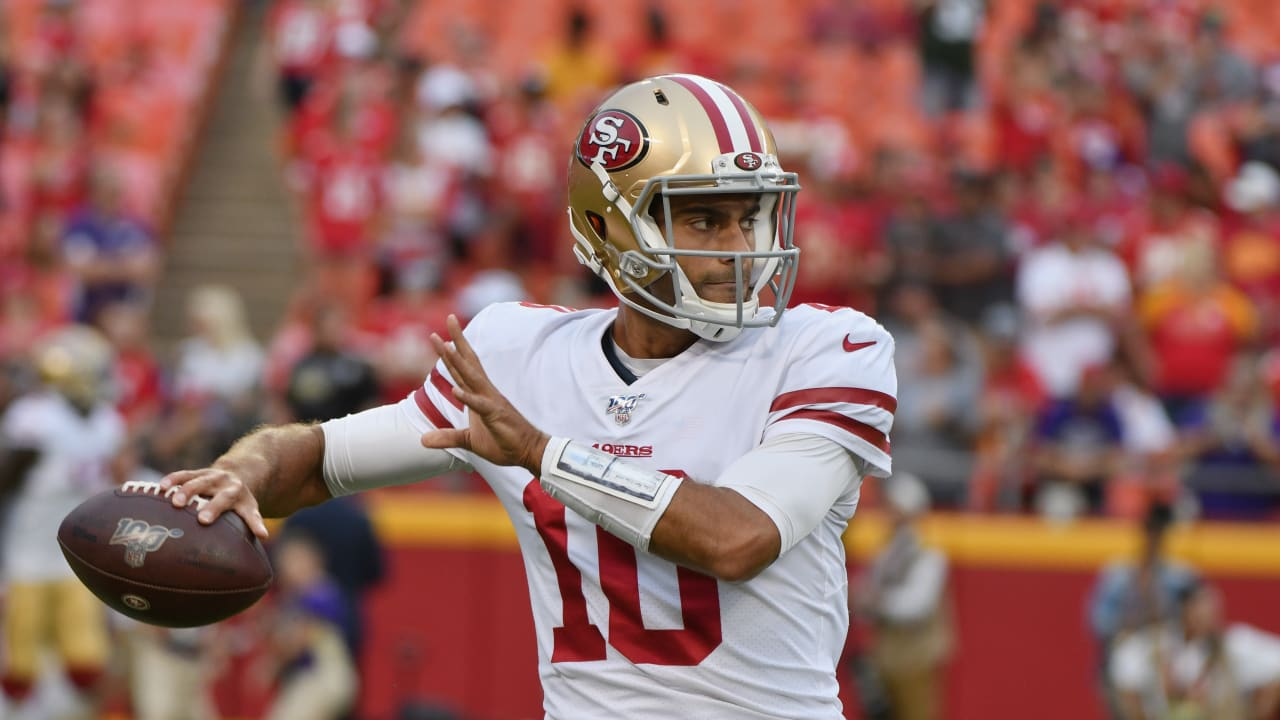 online store 2cb72 c2350 Jimmy Garoppolo Back for Bucs-49ers Rematch