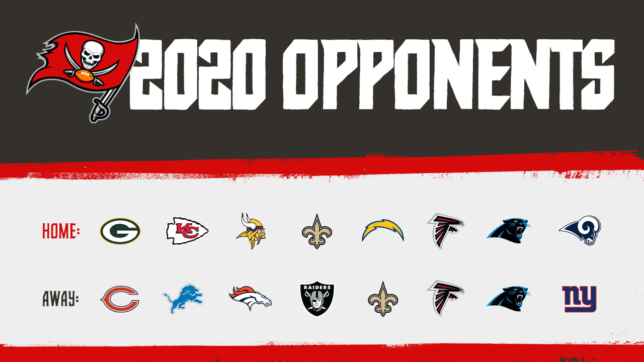 Bucs 2020 Opponents Rams Home Giants Away Face Super Bowl Winning Chiefs At Raymond James Stadium