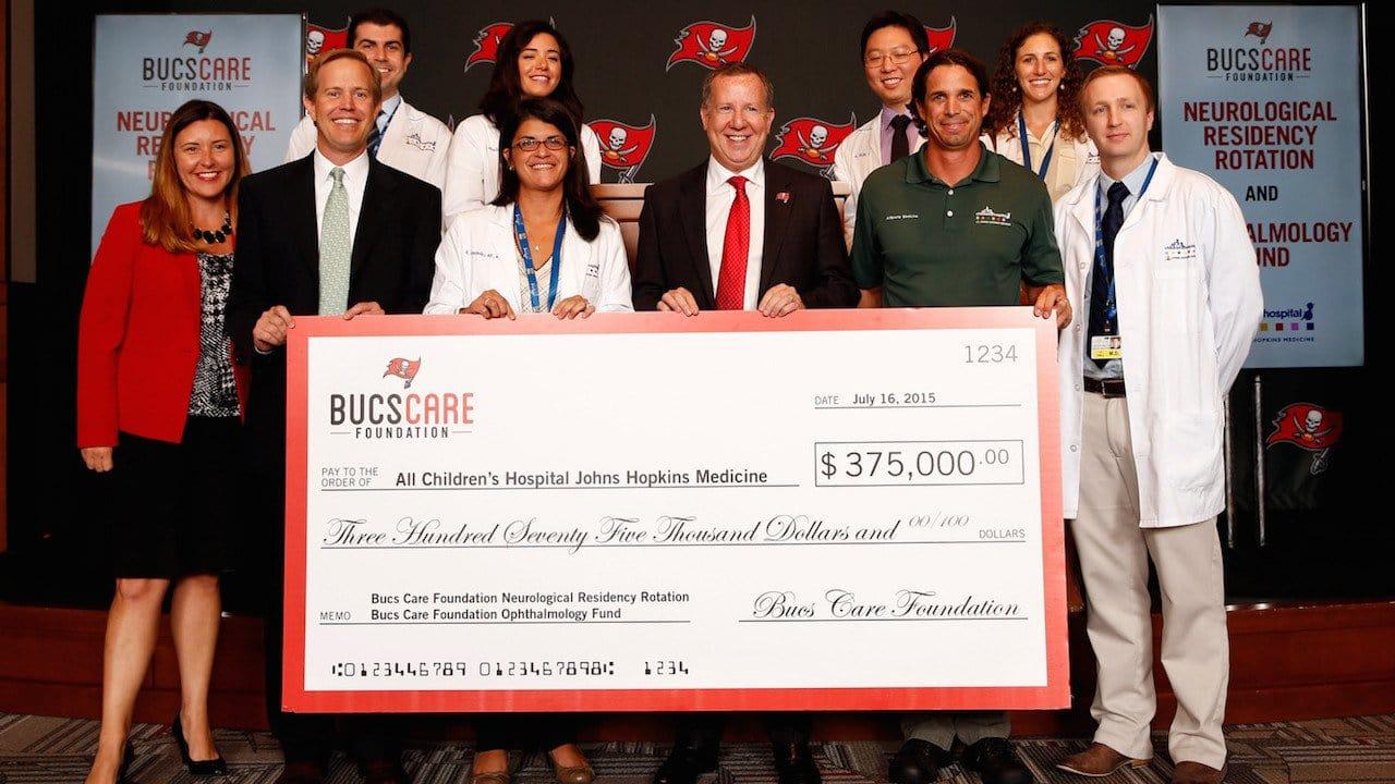 Bucs Commit $375K to Children's Hospital