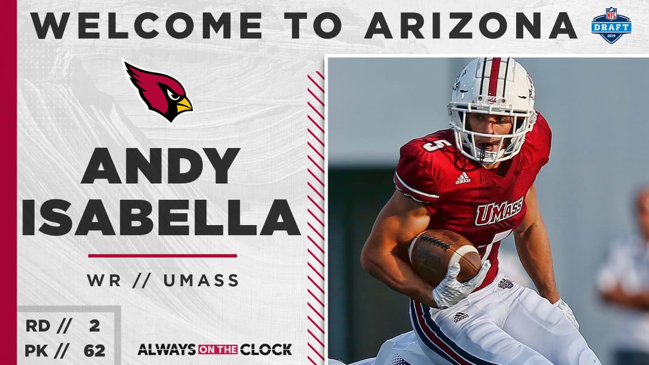 5ed0233a4e04 Arizona Cardinals Select UMass WR Andy Isabella