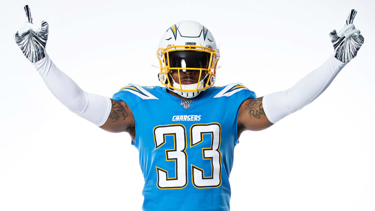 sneakers for cheap d9dc9 3c879 Iconic Powder Blues to Serve as Chargers' Primary Jersey in 2019