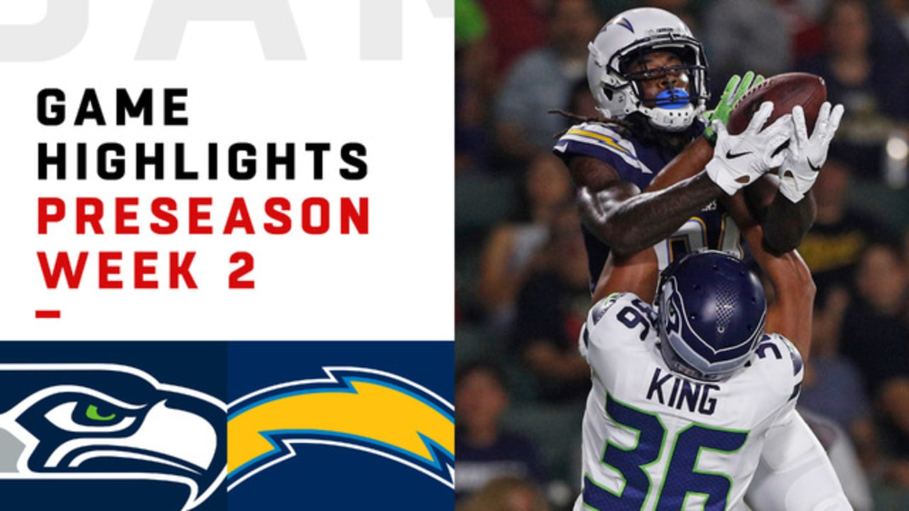 Seahawks Vs Chargers Highlights