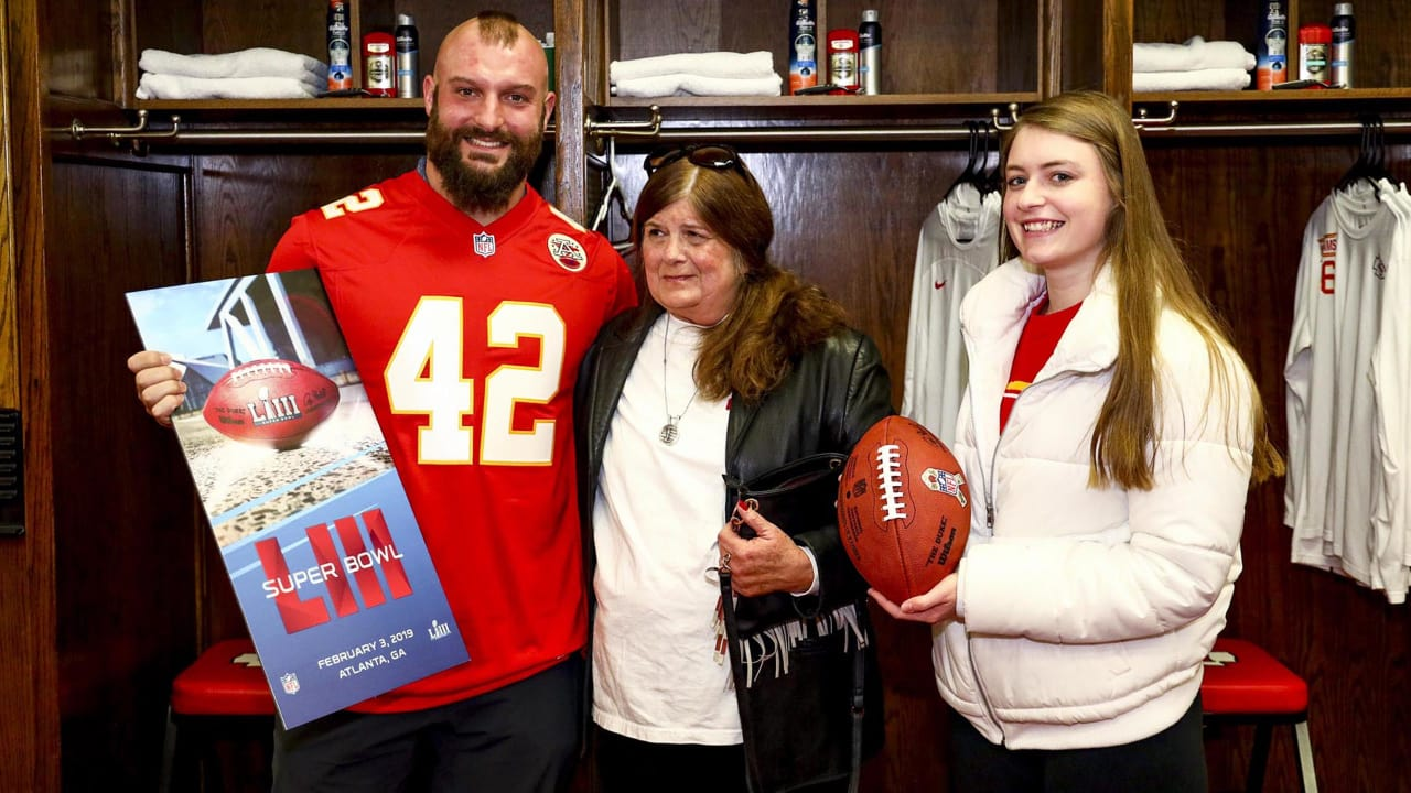 5bc0e1fa28 Chiefs  FB Anthony Sherman Surprises a Gold Star Mother with Tickets to the  Super Bowl