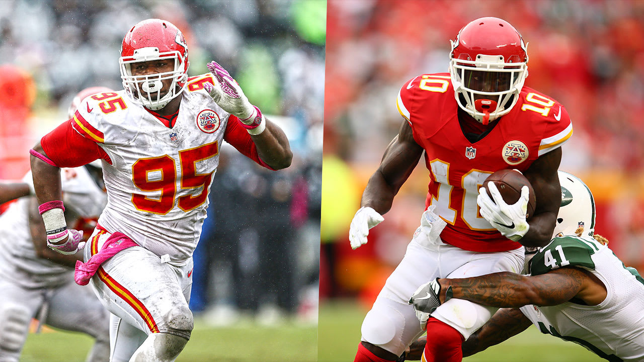 Chris Jones and Tyreek Hill Named to PFWA's All-Rookie Team