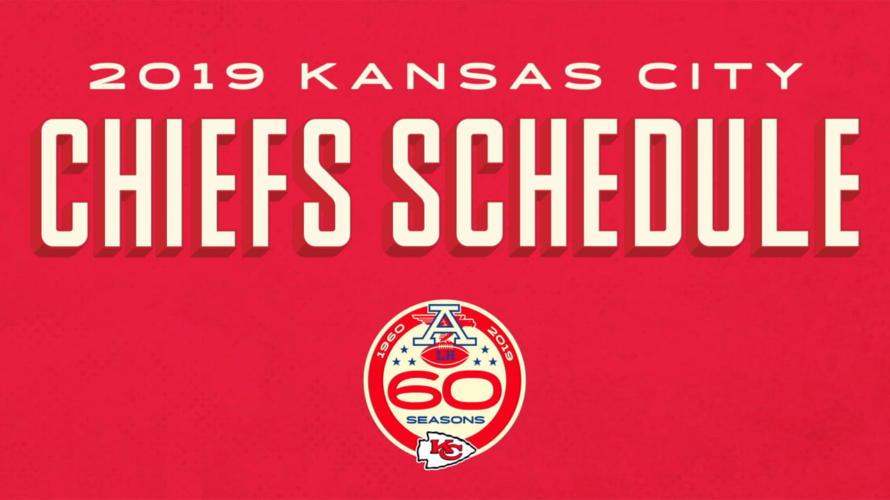 2019 Kc Chiefs Schedule 2019 Kansas City Chiefs Schedule