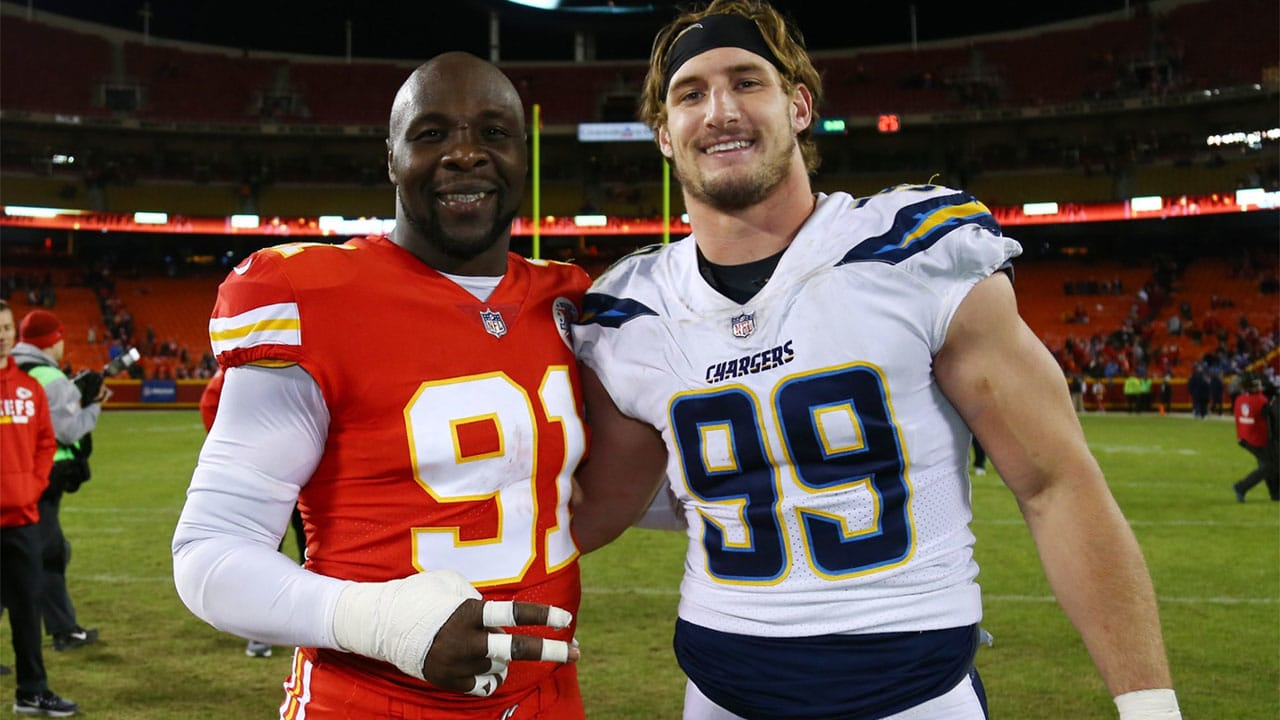 Chargers' Joey Bosa Gets Tips from Chiefs' Tamba Hali After Saturday's Game