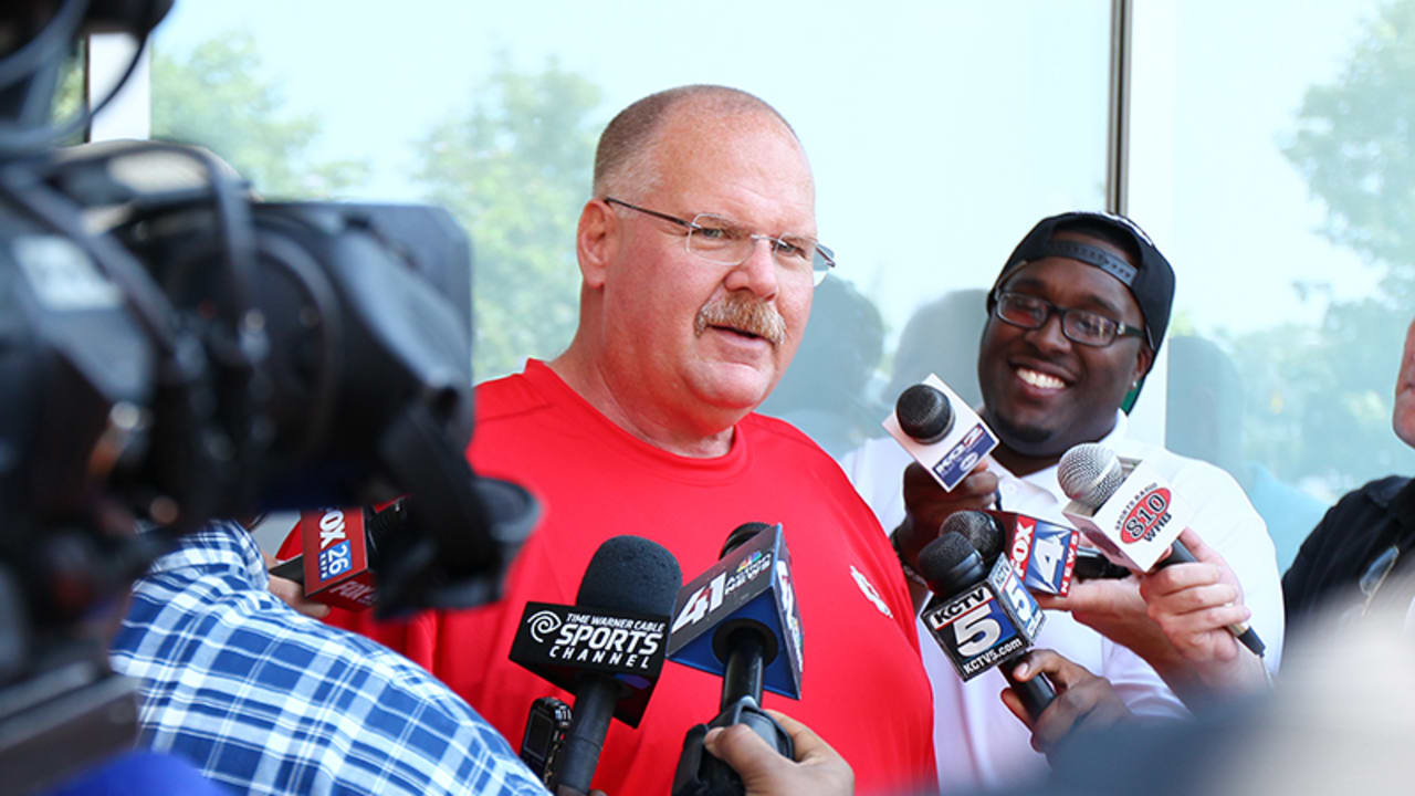 Andy Reid Arrives in St  Joe for Training Camp