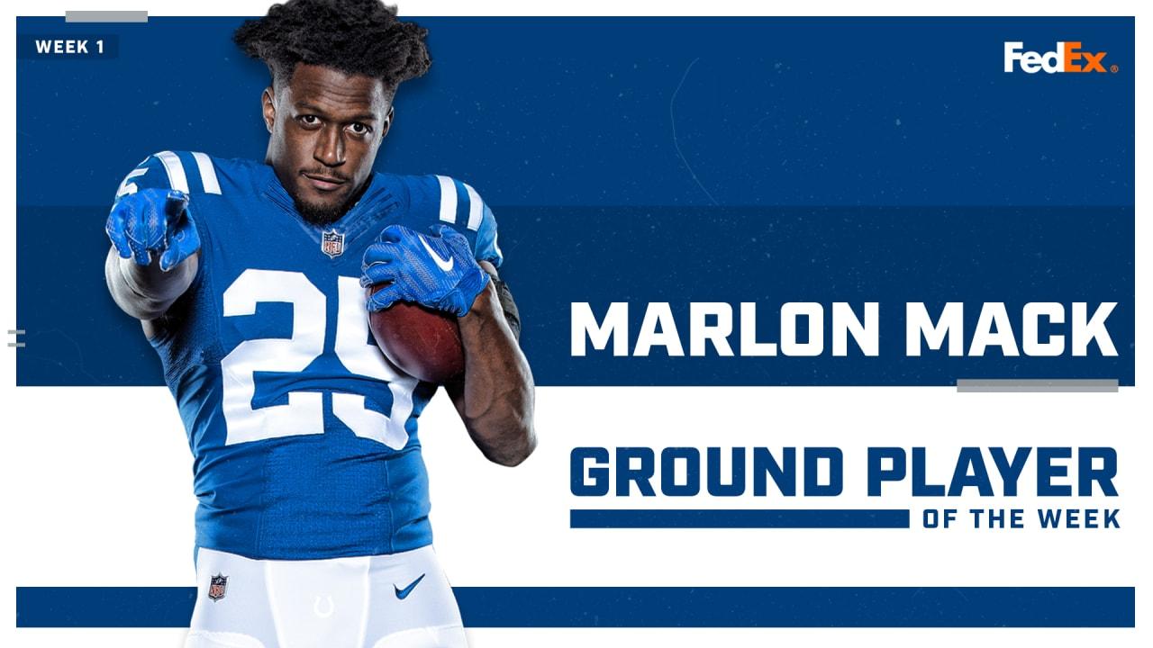 marlon mack voted nfls fedex ground player of the week