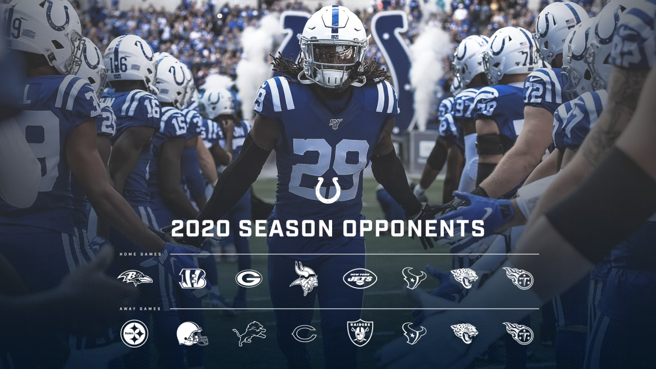 Here are the Indianapolis Colts' official home and away opponents for the 2020 season