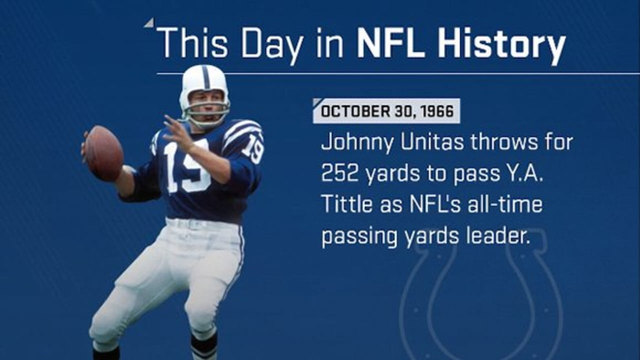 This Day In Nfl History Johnny Unitas Becomes Nfls All Time