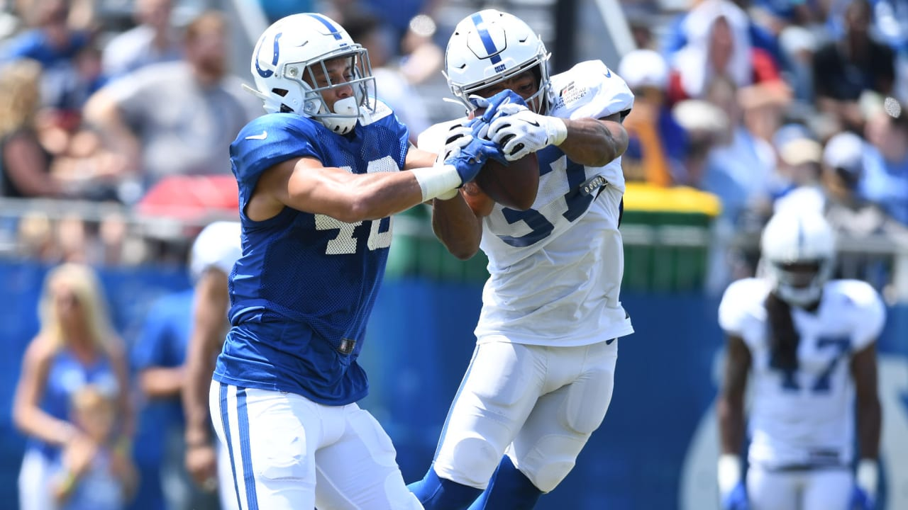 1fd0da46 2019 #ColtsCamp Notebook, Day 3: Colts Throw On The Pads