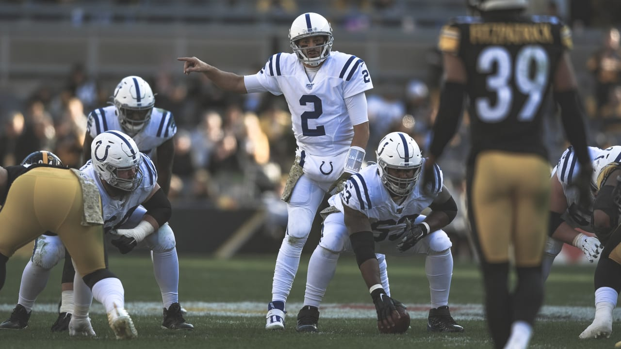 Indianapolis Colts Backup Quarterback Brian Hoyer Stepped In For Injured Starter Jacoby Brissett And Delivered Three Touchdown Passes In The Colts Week 9 Loss To The Pittsburgh Steelers