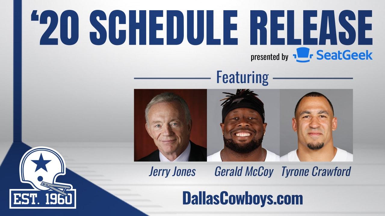 Dallas Cowboys Schedule Release Show 2020
