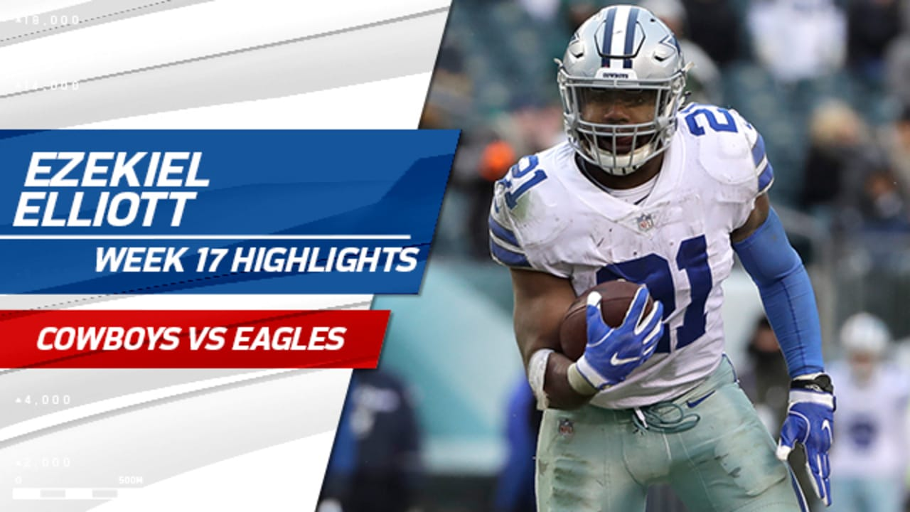 606a89365 Ezekiel Elliott Highlights @ Eagles