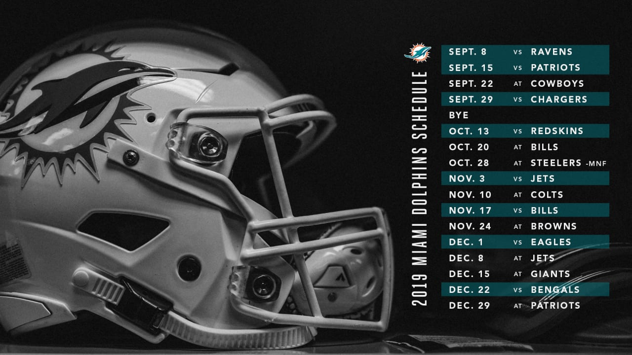 Image result for miami dolphins 2019 schedule