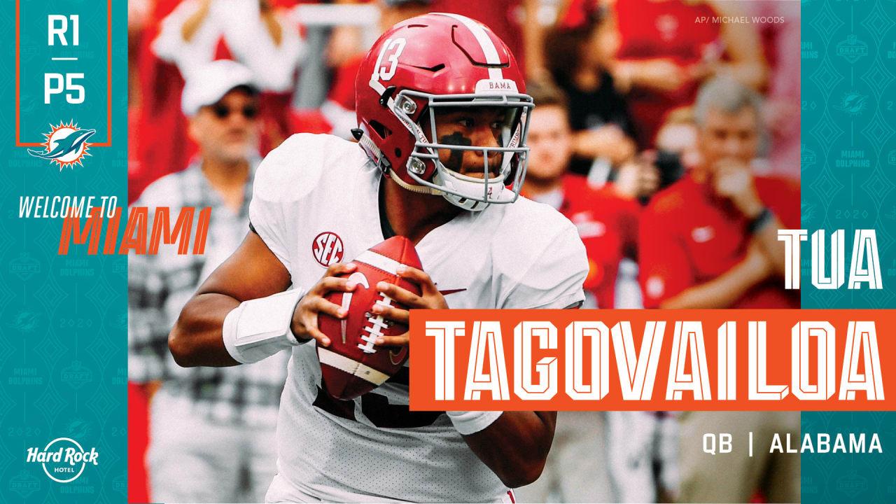 2020 Nfl Draft Quarterback Tua Tagovailoa Alabama Round