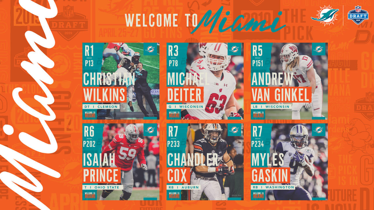 new arrivals 215a2 8ce2b Welcome To Miami: Meet The Dolphins 2019 Draft Class