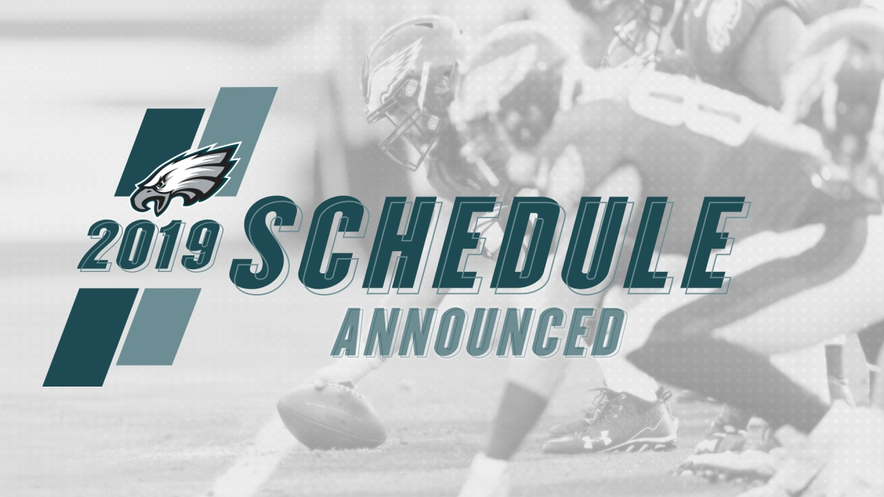 graphic regarding Philadelphia Eagles Printable Schedule identified as Philadelphia Eagles Launch 2019 Agenda