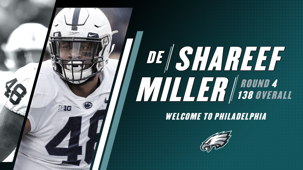 quality design 15949 04ad0 Eagles select DE Shareef Miller in the fourth round of the ...